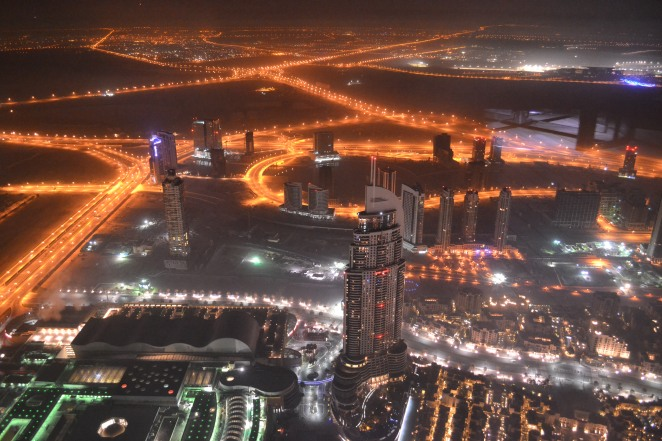 View over Dubai from top of Burj Khalifa, Dubai, UAE, 2013